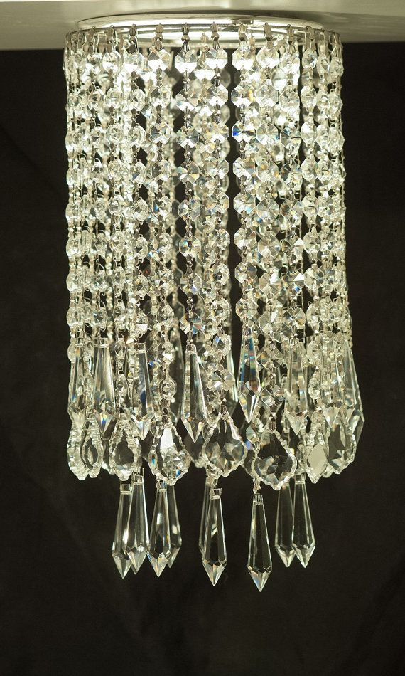 luxe crystal chantilly clip on mini crystal chandelier for recessed spot light pendant ceiling