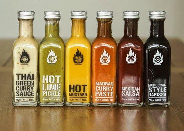 Desain Kemasan Makanan Saus Sambal - Play with Fire Packaging oleh Emma Elderkin
