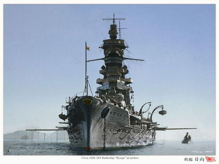 IJN battleship Hyuga, circa 1928. 日本帝国海軍戦艦-日向