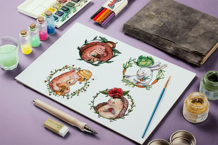 Watercolor Forest Animal set on Behance