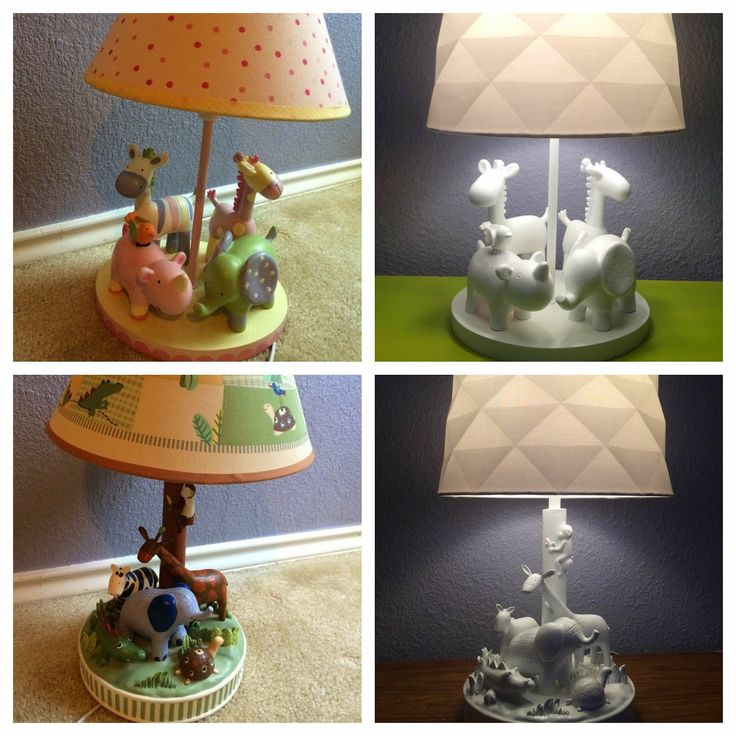 Transforming kids' lamps into classy, modern kids' lamps with a few changes!
