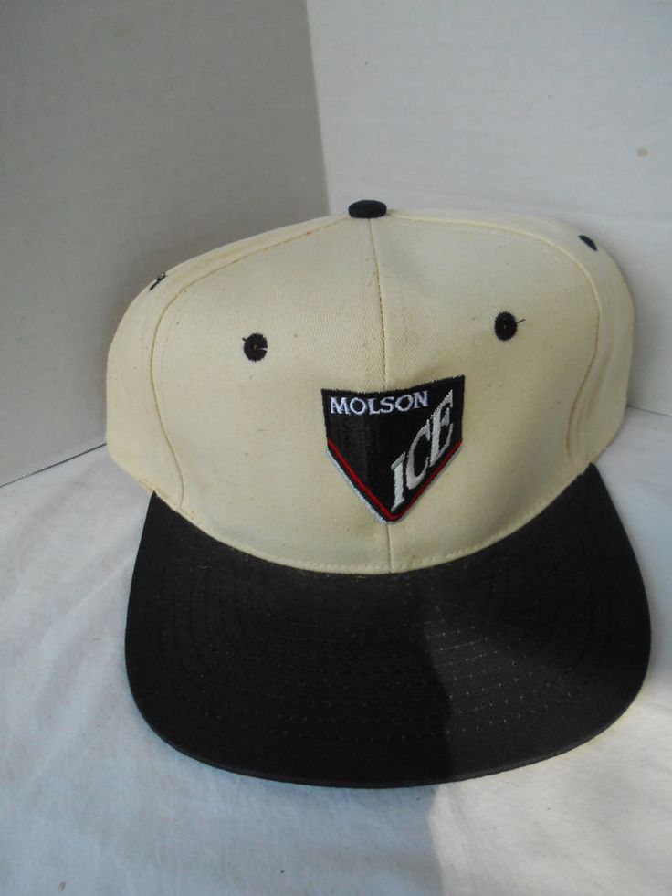 Molson Ice Beer Trucker Hat Cap Vintage Blue White SnapBack Canadian   Clothing, Shoes & Accessories, Men's Accessories, Hats   eBay!