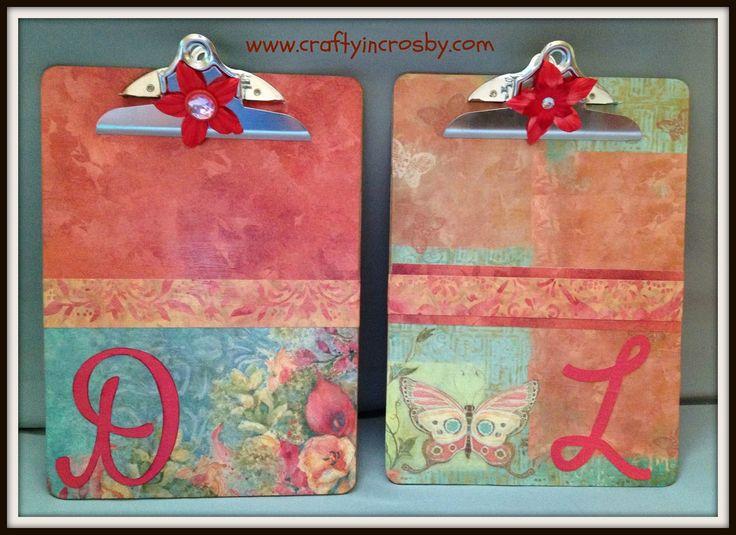 Decorated Clip Boards
