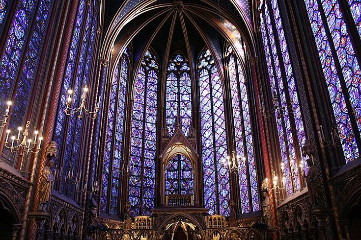 Sainte Chapelle, Paris. One of the most beautiful cathedrals I have seen. The stained glass windows are a sight to see.