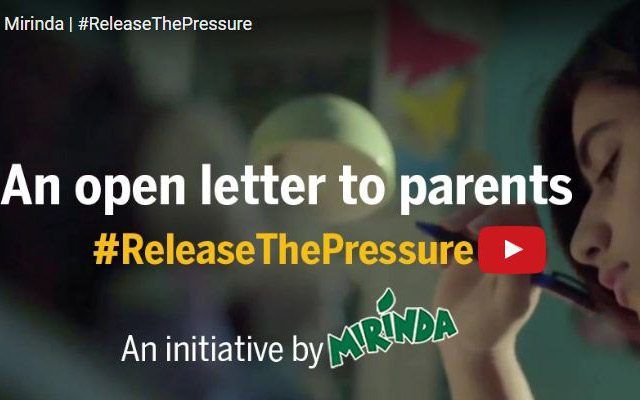 Open Letters by Teens to their Parents, Mirinda #releasethepressure