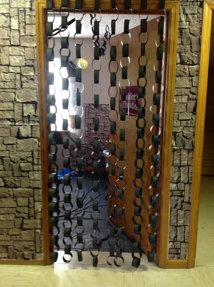 Kingdom Rock at Laurel Creek. Paper chains in classroom doorways. Cool idea!