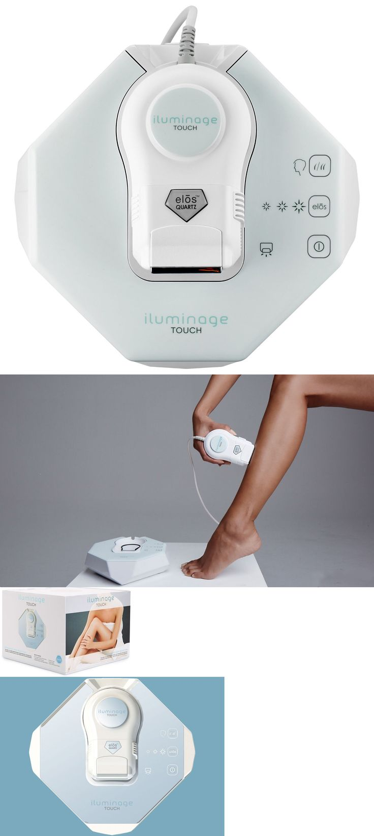 Laser Hair Removal and IPL: New Iluminage Beauty Touch Elos At Home Hair Removal System 120,000 Pulses Bulb BUY IT NOW ONLY: $445.0