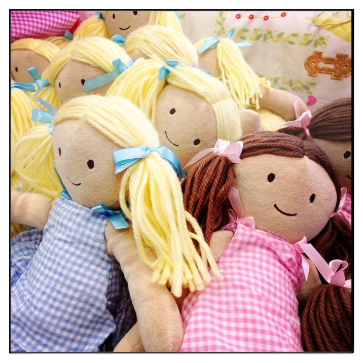 Alice & Harriet our plush dolls. #ragdoll #doll #childrens #toy #plush
