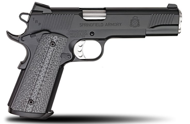 Springfield Armory, Black Armory Kote, 1911 TRP series .45ACP handgun.  I think this is the best 1911 pistol you can get in its price range.  It would make the perfect first .45.