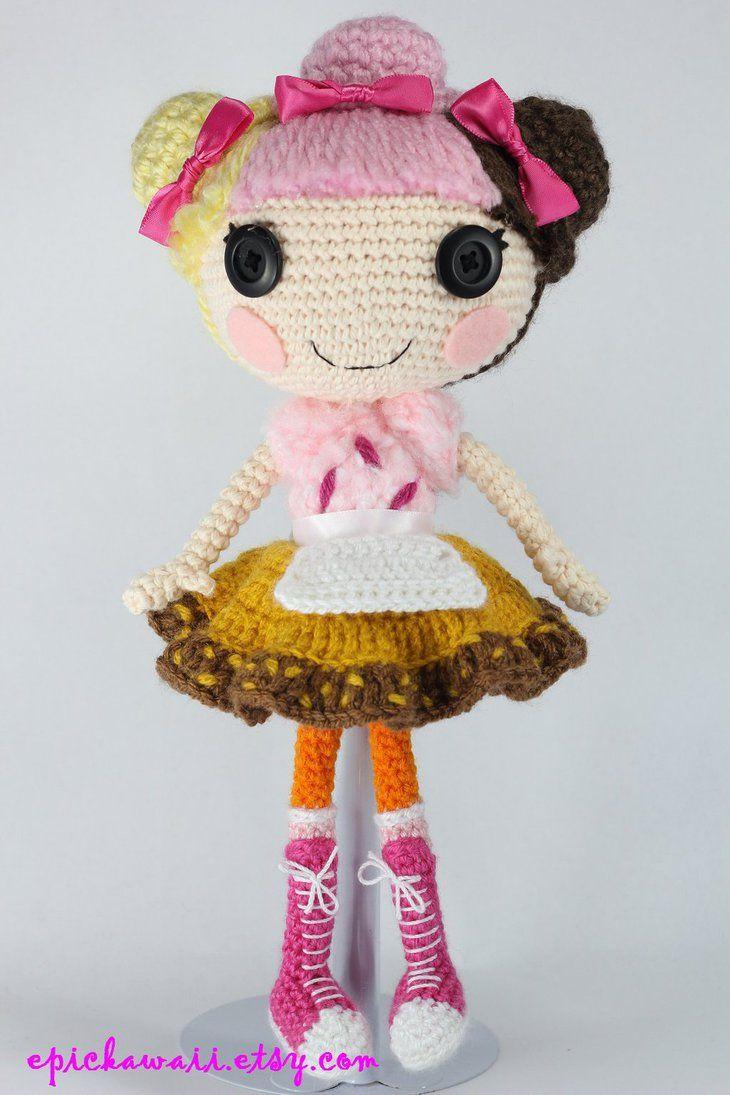 Amigurumi Doll Lalaloopsy : LALALOOPSY Scoops Waffle Cone Amigurumi Doll by Npantz22 ...