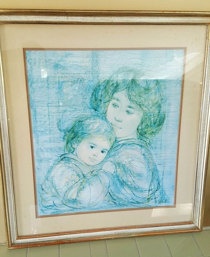 Edna Hibel Linda and Elizabeth Limited Edition Lithograph Print 192/1000 Signed