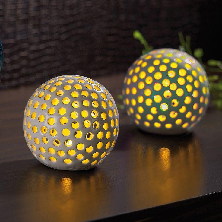 Epic Lunartec Kabellose LED Dekoleuchten aus Keramik im er Set
