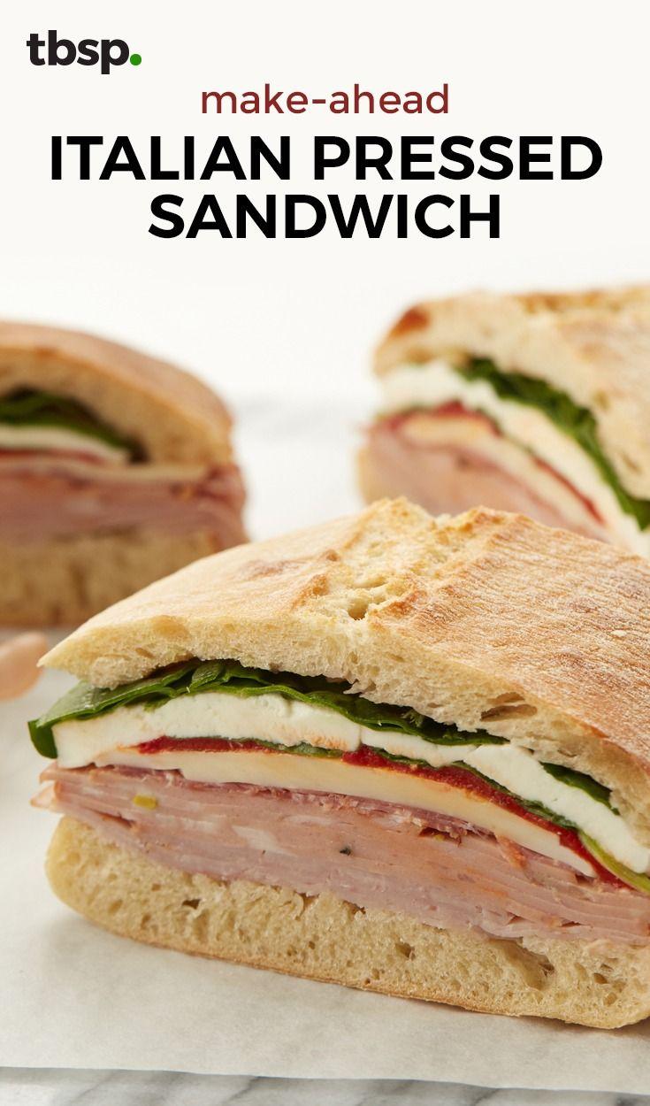 Make-Ahead Italian Pressed Sandwich
