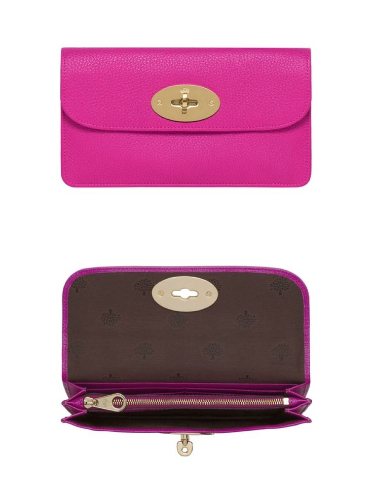 Long Locked Purse - Mulberry Pink Glossy Goat. I've died and gone to heaven... ❤️