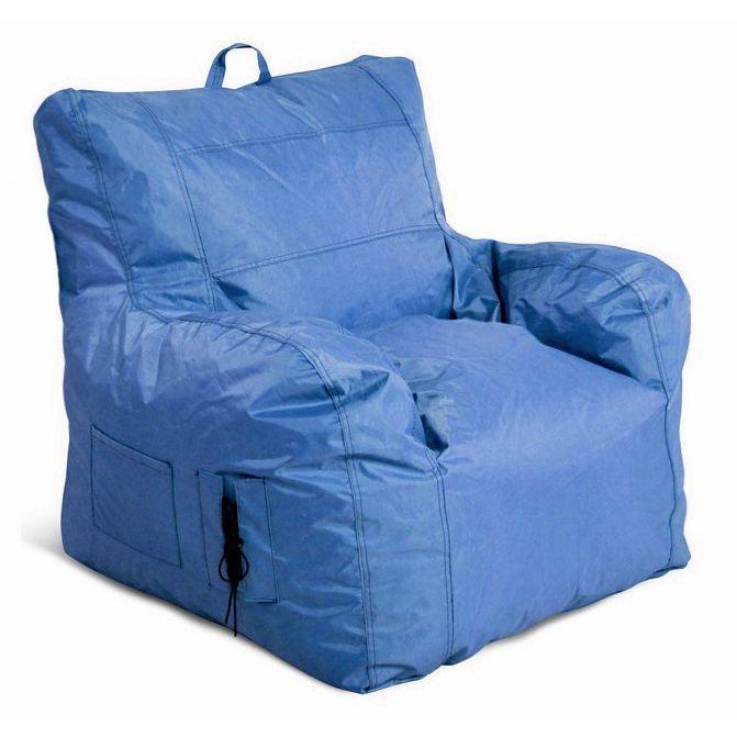Jordan Manufacturing Large Bean Bag Chair Blue Size Medium Polyester