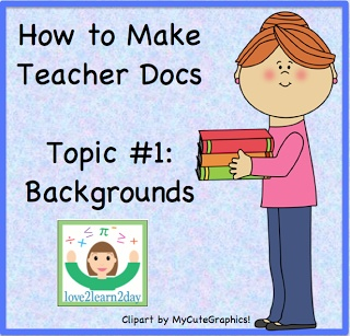How to Make Teacher Docs: Backgrounds - learn how to create original classroom worksheets & handouts. This video, first in a series, demonstrates how to put a background into a Word document.