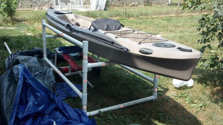 DIY PVC Kayak Rack