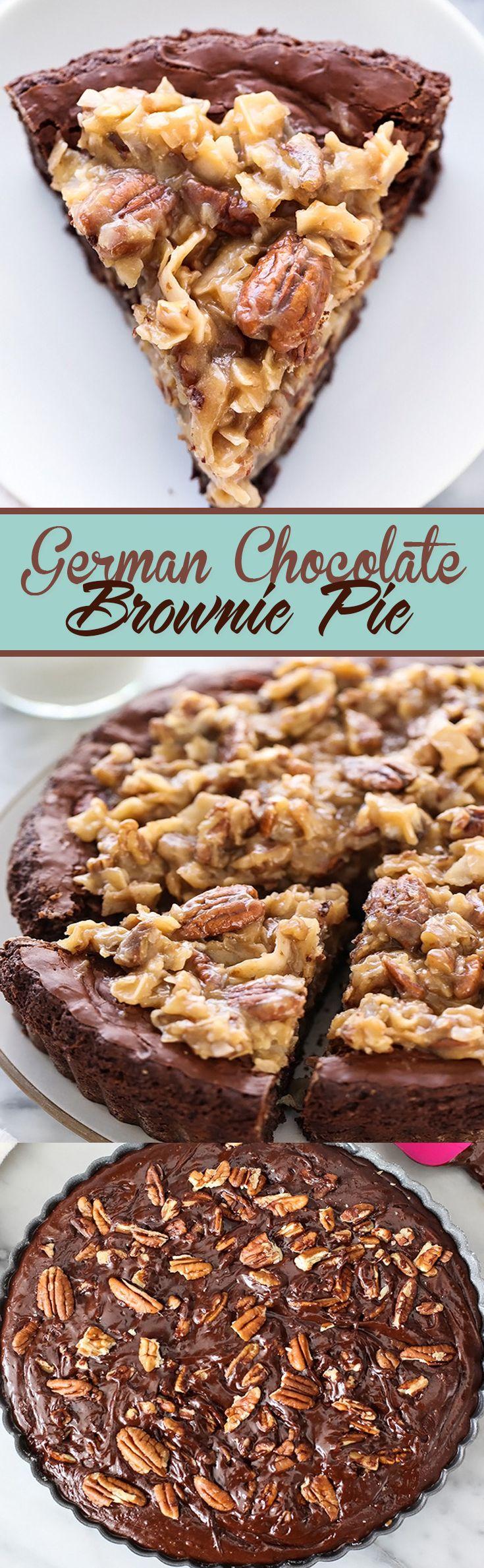 German Chocolate Brownie Pie                                                                                                                                                                                 More (brownie desserts easy)