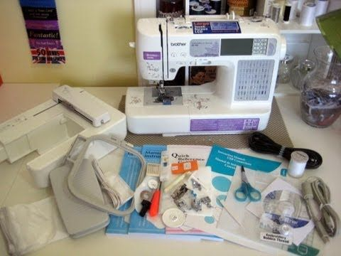 ▶ Brother SE400 Computerized Embroidery Sewing Machine Video Tour.  The exact sewing machine I have... Now, I just have to learn how to sew and how to use it!