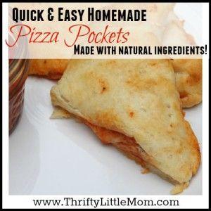 Easy Homemade Pizza Pockets