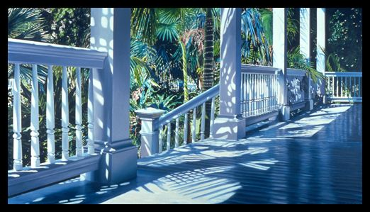 Alice Dalton Brown: Patrick's Front Porch (This print hung in my living room, I would get lost looking at it. Very peaceful.)