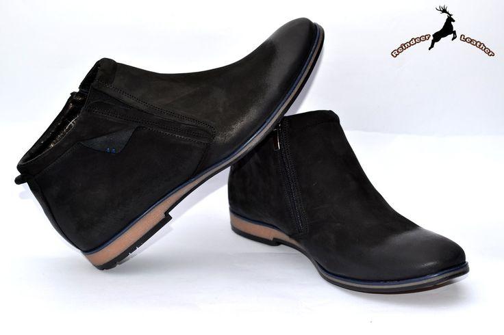 Marpol Side Zip Chukka Leather Boot
