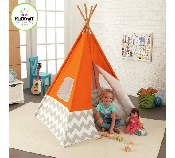 Buy Kidkraft Teepee Play Tent - Orange at Argos.co.uk, visit Argos.co.uk to shop online for Play tents, Playhouses and activity centres, Outdoor toys, Toys