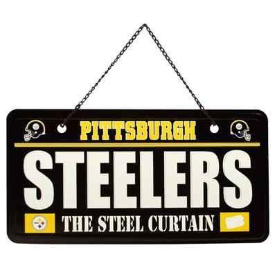 Pittsburgh Steelers License Plate Sign Black | eBay