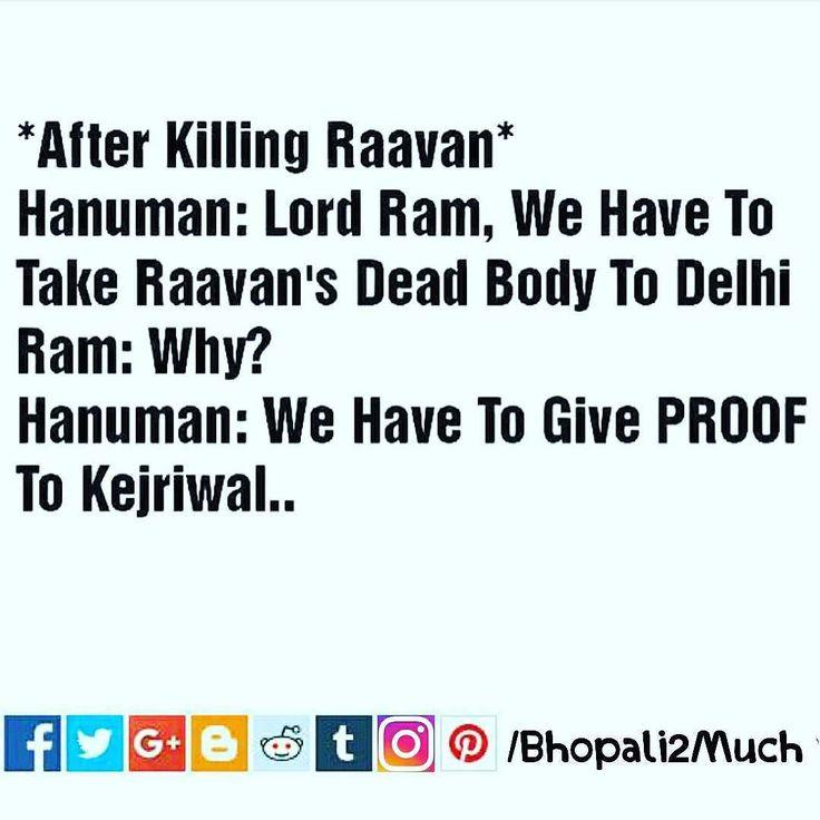 After killing ravana #dussera #festival #india#hindu #ravana #ram #hanuman #fun #funny #kejriwal #delhi #short #story