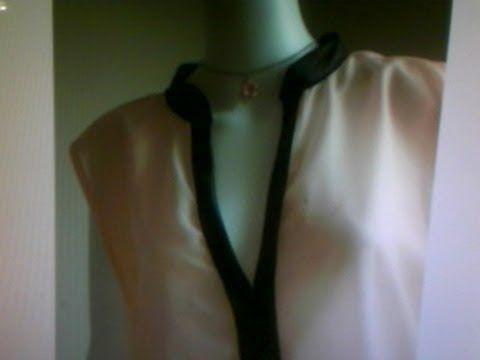 como coser un vestido o blusa sin mangas y vista de cuello y sisa en una sola pieza - YouTube