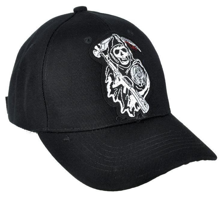Sons of Anarchy Hat Baseball Cap Biker Grim Reaper Clothing