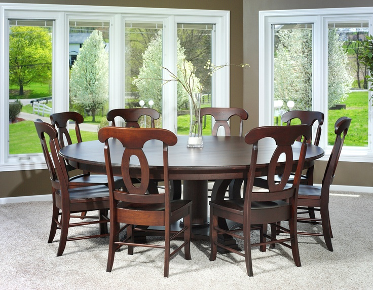 Birmingham traditional round dining room table amish