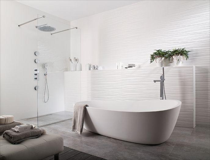 Wall Texture Designs For Bathroom : Oxo line blanco porcelanosa tile