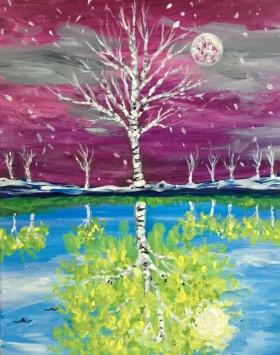 Before and After April - Reversible Painting at Twiggs An American Gastropub - Paint Nite Events near St Albans City, VT>