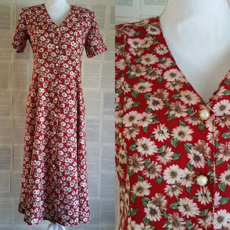 Vintage Floral 90s Dress - Plus Size 15 by MyVintageSundays on Etsy
