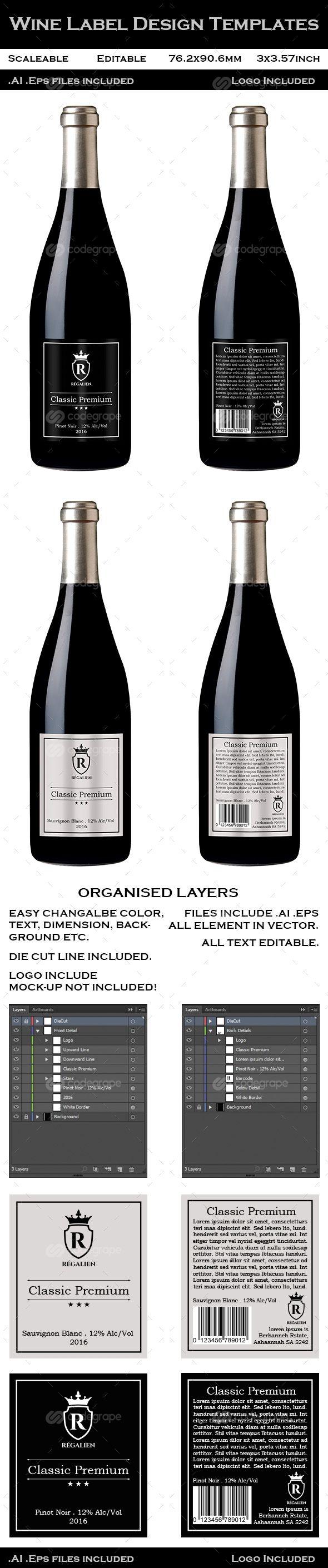 Wine Label Design Templates on @codegrape. More Info: https://www.codegrape.com/item/wine-label-design-templates/10631