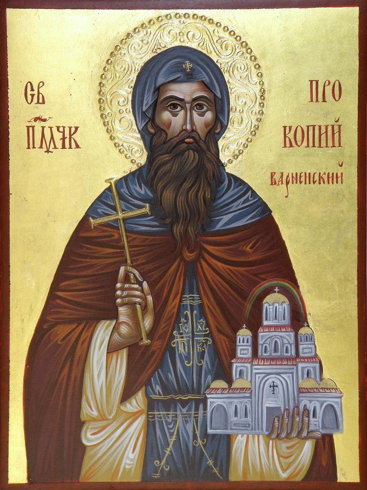 Sv. Prokopi Varnenski hand painted orthodox icon by Georgi Chimev
