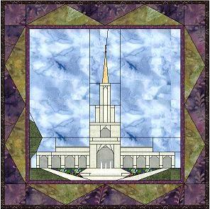 Sacramento,  24x24   Temple quilt patterns for Latter Day Saint Temples