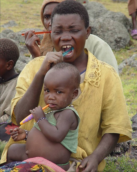 Volunteer as a dental hygienist on a trip to an underserved nation. Photo from the International Smile Power program