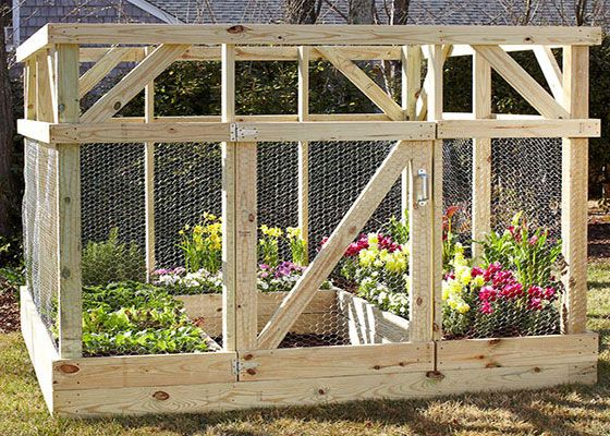 If deer and other critters are a persistent problem, this garden enclosure may be the solution you need.