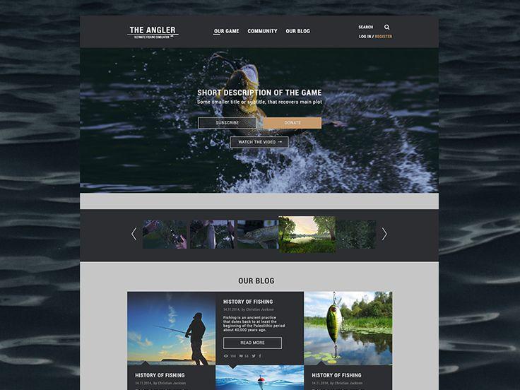 the Angler game page