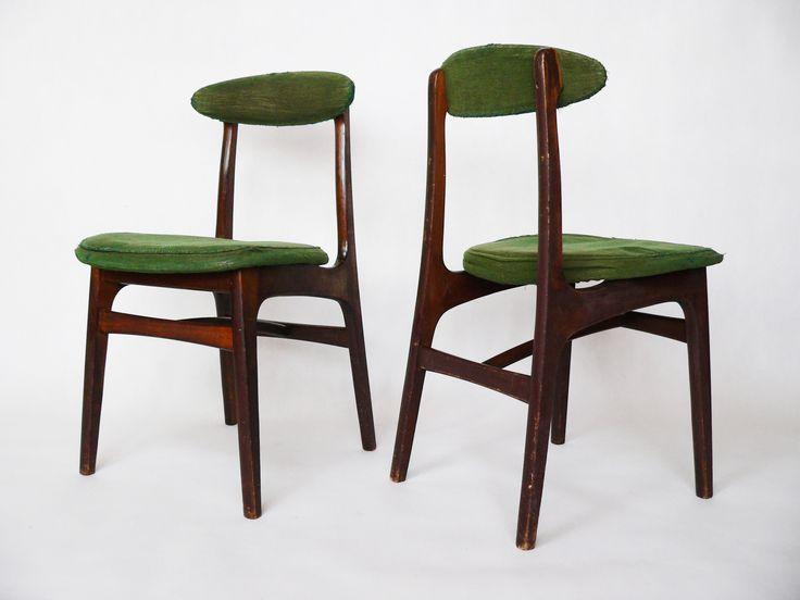Para krzeseł typ 200-190  Projektant: Rajmund Teofil Hałas #vintage #vintageshop #vintagefinds #polish #design #icon #prl #furniture #home #chair #halas #wooden
