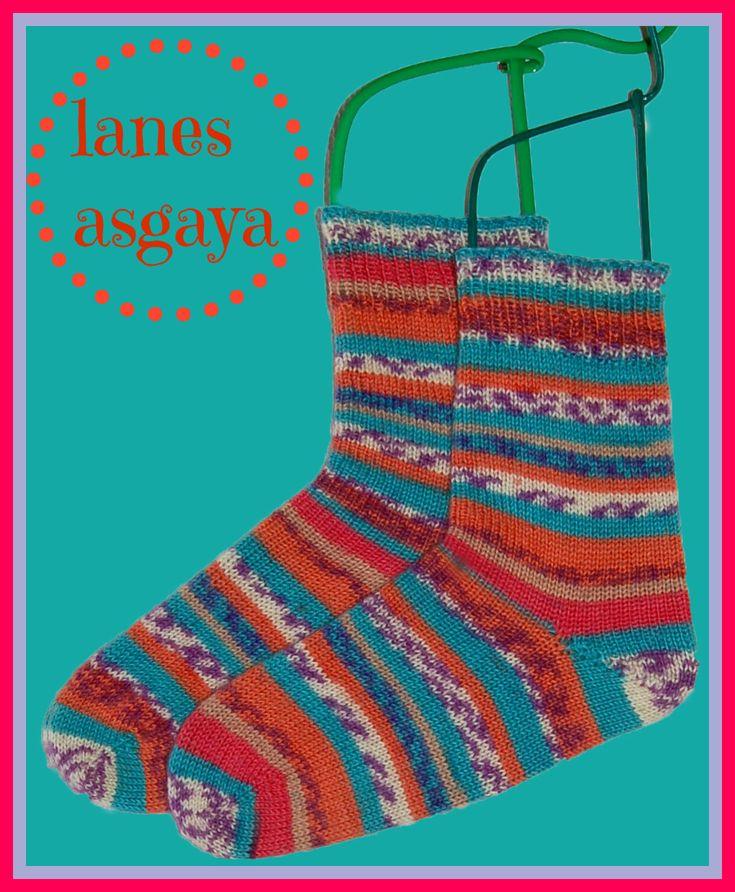 Lujo Puntera Arriba Patrón De Crochet Calcetín Motivo - Manta de ...