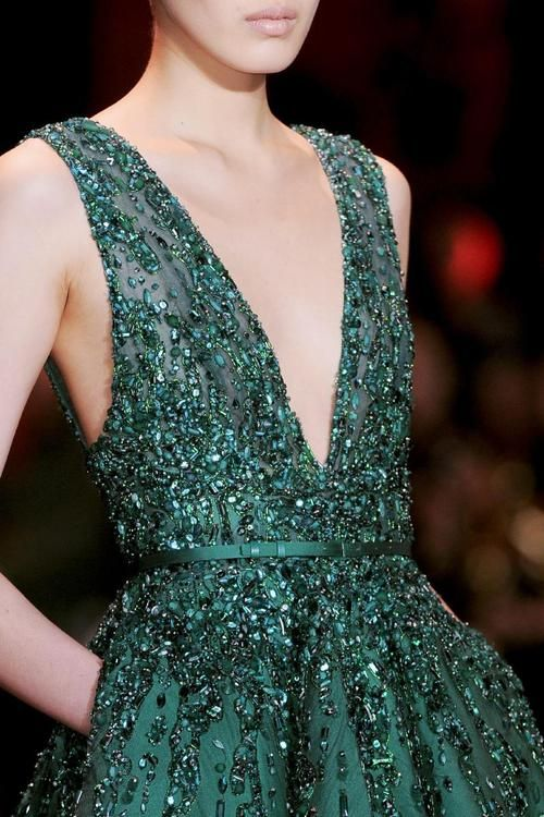 emerald sparkles remind us of the holidays