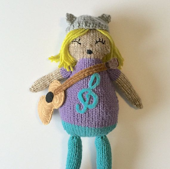 knitted musician doll by OnlyOneKnitToys #etsy #handmade #doll
