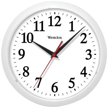 Westclox 461761 10 Inch Basic Wall Clock White Black White Wall Clocks Clock How To Make Wall Clock