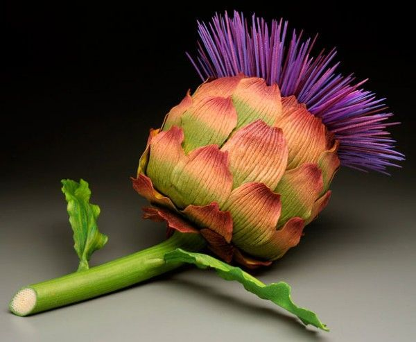 Blooming artichoke' - Kathleen Dustin