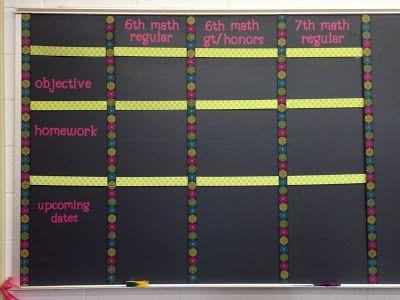Classroom Organization - Middle School/High School
