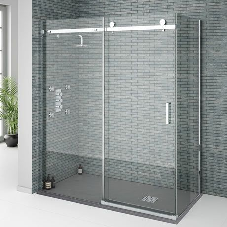 Orion Frameless Sliding Shower Enclosure - 1600 x 800mm