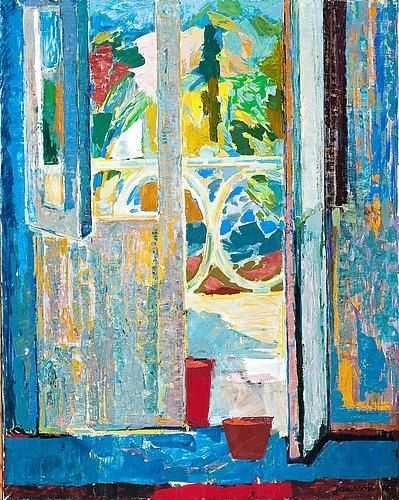 TOVE JANSSON  View to the Balcony (1961). Tove Marika Jansson was a Swedish-speaking Finnish novelist, painter, illustrator and comic strip author